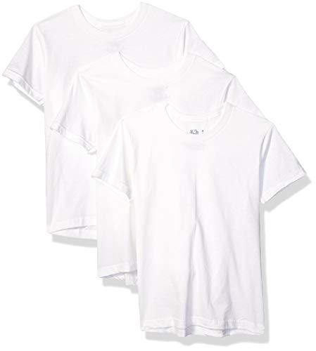 Fruit of the Loom Big Boys' White Crew tee, White, Small (Pack of 3)