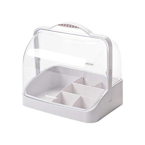 Xiaoxiao Boîte de rangement cosmétique - Matériau en PP, conception portable étanche à l'humidité, épaisse et durable, étanche à la poussière, portable, salon, chambre à coucher, bureau, coiffeuse, bu