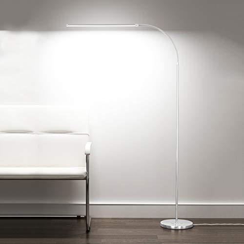 JLXW led-oogbescherming staande lamp superheldere staande lamp met afstandsbediening, dimbaar, 360 graden verstelbaar, 12 W vloerlamp voor woonkamer, slaapkamer, kantoor