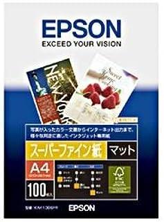 (業務用セット) エプソン(EPSON) スーパーファイン紙 A4 1冊(100枚) 【×5セット】
