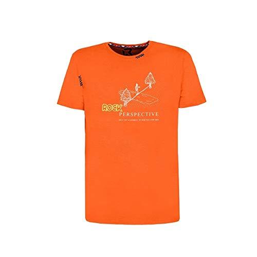 Rock experience - Camiseta deportiva ligera de algodón orgánico con frases motivadoras estampadas Arancione S