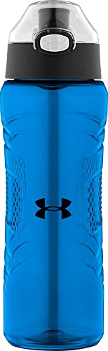 Under Armour Draft 24 Ounce Tritan Hydration Bottle with Push Button, Jet Blue
