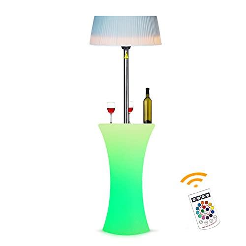 DHYBDZ Calentador de Espacio eléctrico para Patio con Luces LED remotas, Calentador de Exterior Adecuado como Calentador de balcón, Calentador de Fiesta de Navidad, decoración Exterior