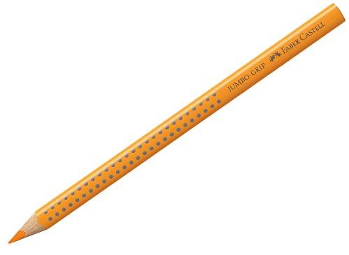 Faber-Castell 110909 - Buntstift Jumbo Grip, chromgelb dunkel