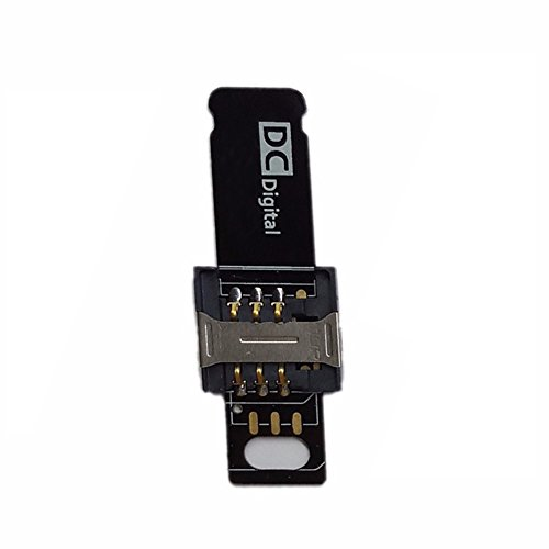 Velidy - Adaptador de extensión para tarjeta SIM para iPhone 5 5S 6 Plus 6 6 S 7 7 Plus