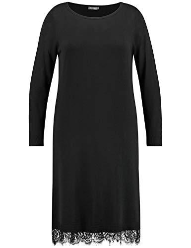 Samoon Damen Strickkleid Mit Unterkleid Leger Black 2XL
