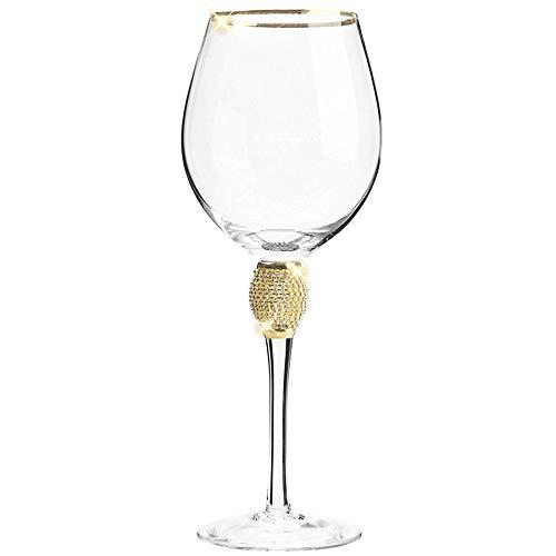 Cay2T - Weinglas, Elegantes Rotweinglas Mit Langem Stiel Und Goldrand 2P -schön-