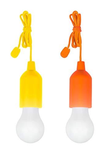 tempo di saldi 2 X Lampadina Led Portatile Colorata Senza Corrente Per Casa Campeggio Giardino