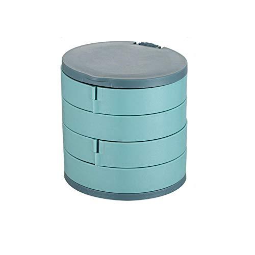 YHDNCG Caja de joyería, caja de joyería de 4 capas, organizador de joyas, caja de almacenamiento multifunción para collar, pendientes, regalo para mujer