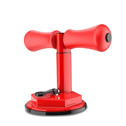 Ejercitador de abdominales, ayuda a reducir el movimiento de la cintura, rodillo abdominal, ventosa para el hogar, aparato de fitness de 26 x 21 cm, color rojo