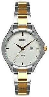 ساعة يد سيتيزن للنساء كوارتز مع سوار ستانلس ستيل, لونين - HZ0004-55A