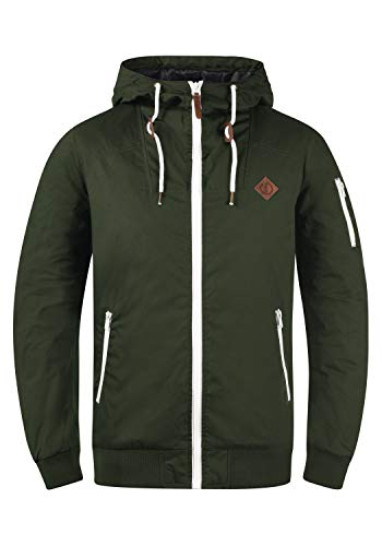 !Solid Tilly Herren Übergangsjacke Herrenjacke Jacke gefüttert mit Kapuze, Größe:M, Farbe:Climb Ivy (3785)