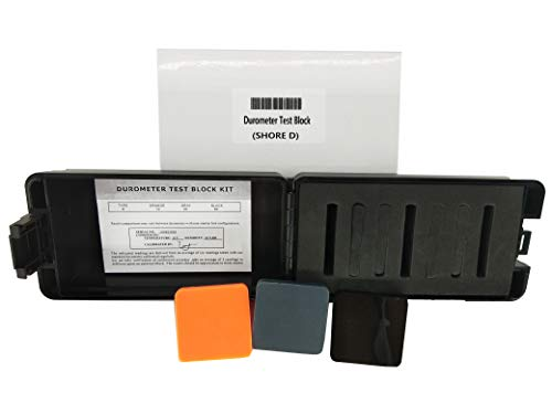 VTSYIQI Durometer Test Block for Shore D Durometers D Type Rubber Hardness Test Block Durometer Test Block Kit for Durometers Type D, Color Black