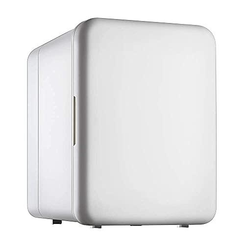 H.Slay SHKUU Mini refrigerador portátil para cosméticos personales, enfría y calienta 4 litros de Capacidad, enfría 6 latas de 12 oz, 100% Libre de freón y ecológico