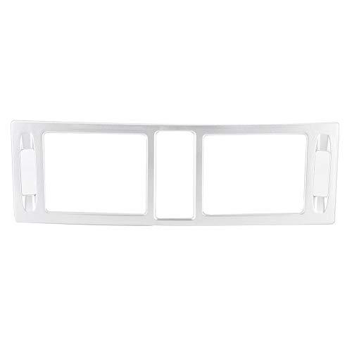 Yctze Auto Konsolen Lüftungsgitter Rahmen, ABS Mittelkonsolen Lüftungsauslass Rahmen passt für Klasse C W204 2007-2010 (Silber)