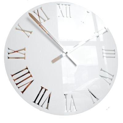 Horloge Romaine en Acrylique Blanc de Roco Verre (58cm Diametre)