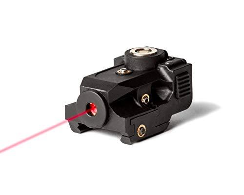 BattleBeam V1 Laser Sight | Rifle or Handgun | Weaver or Picatinny Rail | Red or Green Dot Lazer Sight Pistol | Tactical Sights Airsoft | Scope Hand Gun Rifles | Pistol | Air Soft Optic (Red Laser)