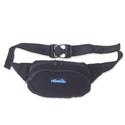 KAVU Canvas Spectator Belt Bag Fanny Pack - Black