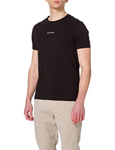 Calvin Klein Jeans Micro Branding Essential SS tee Camiseta, CK Negro, M...