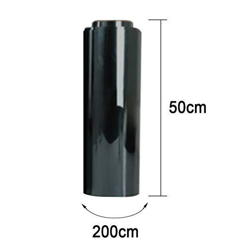 One Way Waterdichte folie voor ramen, zilverkleurig, isolatie zelfklevend, UV-bescherming, kijkvenster, kleur: 2 m x 50 cm 2m X 50cm