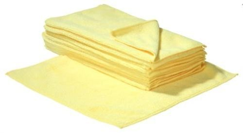 SBS Mikrofasertücher | 30 x 30 cm | 20 Stück | gelb | Microfasertuch Mikrofaser Tuch Microfasertücher