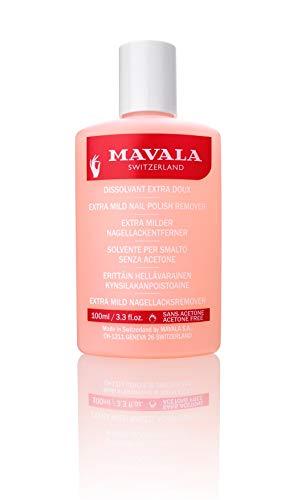 Mavala nail polish remover pink - removedor de esmalte suave sem acetona 100ml