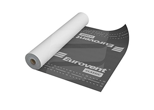 Eurovent Breathable Roof Membrane/Felt - 1.5m x 50m (75 SQ/M) - 120 G/SM - Free Next Day UK Delivery - Large Discount on Multi Pack (1)