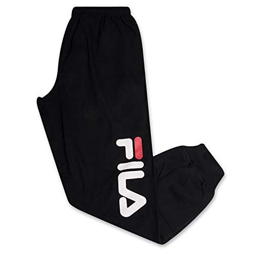 Fila Sweatapnts for Men Big and Tall Cotton Fleece Jogger Sweatpants Black 2XLT