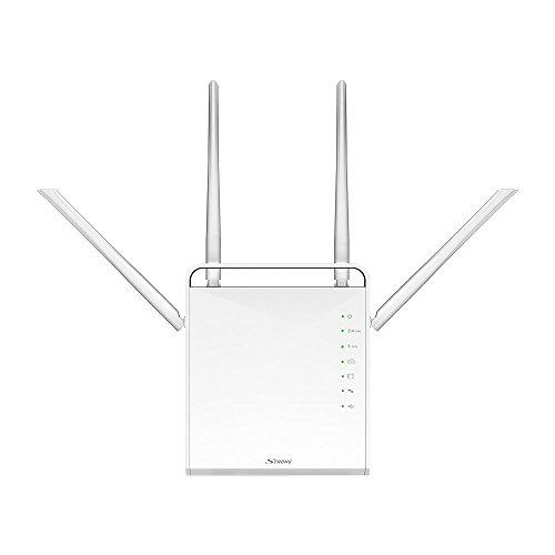STRONG WLAN Dual Band Gigabit Router 1200 (bis 1200 Mbit/s, 2.4 + 5 GHz, LAN, WAN, Wifi Verstärker, FTP, Mediaserver) weiß