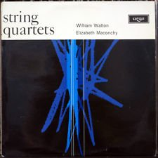 Sir William Walton: String Quartet in A Minor (1947) ~ Elizabeth Maconchy: String Quartet No. 5 (1948) ~~ The Allegri String Quartet {Eli Goren & James Barton, Violins - Patrick Ireland, Viola - William Pleeth, Cello} ~~~ ARGO ZRG 5329