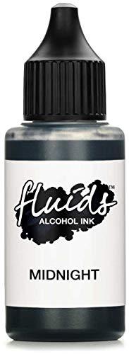 30ml Fluids Alcohol Ink MIDNIGHT, tusz alkoholowy, tusz alkoholowy do fluid artu, żywicy i żywicy epoksydowej, czarny