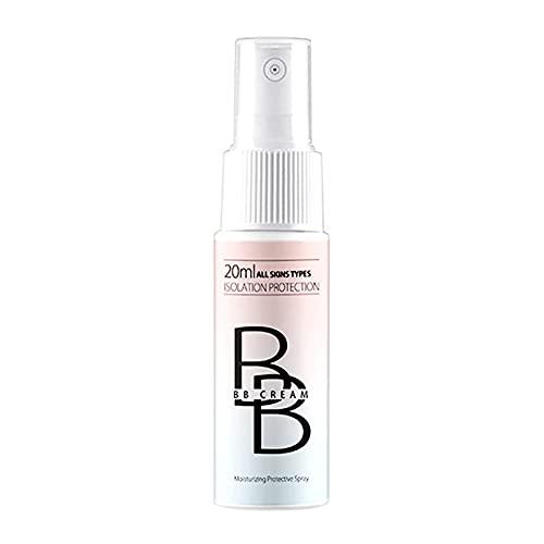 Spray BB Cream Corrector Aligeramiento Aligeramiento 20ml, Base Hidratante Base Facial Maquillaje Abrillantador Impermeable a Prueba de Sudor Belleza de Larga Duración Cuidado de la Piel para Mujeres