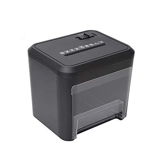 REWD Hochsicherheits-Aktenvernichter Tragbare Hand Shredder, Tabletop-Aktenvernichter, 4 Blatt Cross-Cut-Aktenvernichter Home Office Tragbare Shredder Mit 3.5L Abfallpapierkapazität