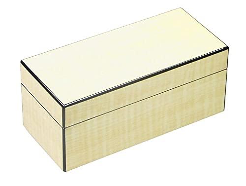 Generico Lubinski - Caja larga de 4 relojes de arce brillante