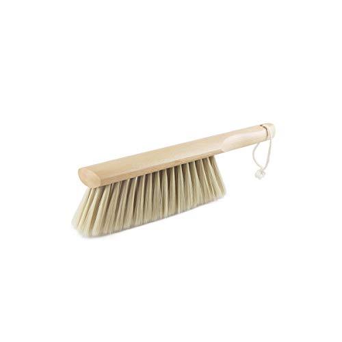 Escoba de hogar Kehuitong, cepillo de pelo suave, antiestático, cepillo para polvo para polvo de gran tamaño con una bonita escoba, cepillo de color natural para limpieza, natural