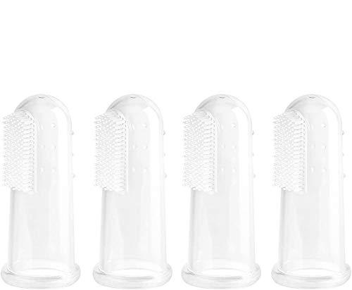 4er Baby Fingerzahnbürste Silikon Zahnbürste Set für Zähneputzen und Zahnfleischmassage mit Aufbewahrungsboxen