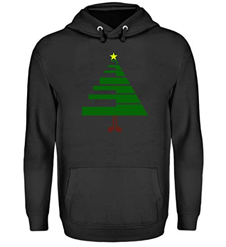 Chorchester De kerstboom voor muzikanten pianisten - Unisex capuchontrui hoodie
