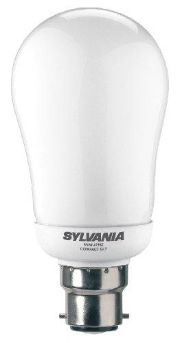 SYLVANIA Ampoule Basse consommation Culot à baïonnette B22 Blanc Chaud, durée 6 000 Heures, Verre, B22 11W 240V