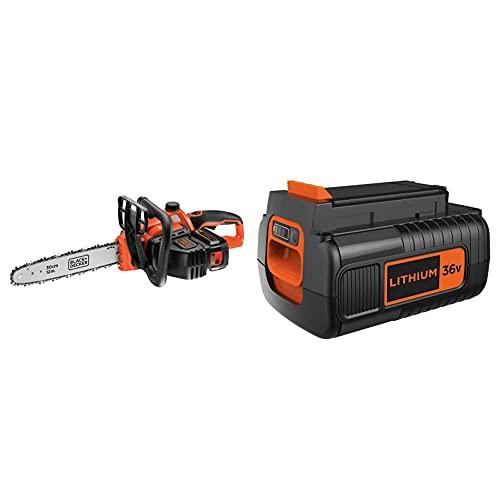 BLACK+DECKER GKC3630L20-QW Motosierra a batería 36V + Black+Decker BL20362-XJ - Batería litio 36 V, 2 Ah