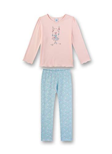 Sanetta Mädchen Pyjama lang Zweiteiliger Schlafanzug, Rosa (rosa 3990), (Herstellergröße:140)