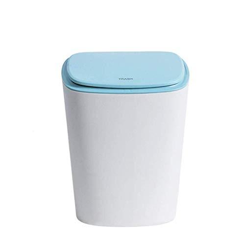Overkappende vuilnisemmer Push-type plastic vuilnisbak meerkleurig oud papier container 16 & mal; 19 5 & mal; 31 cm Huhero (kleur: C) (kleur: B maat: -) B