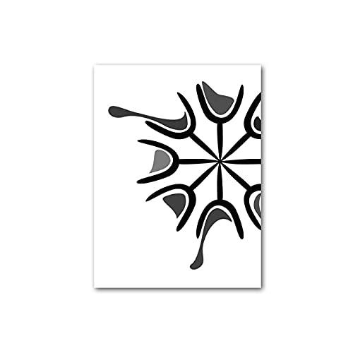 Weijiajia Cartel nórdico Blanco y Negro Moderno de Las Botellas de Las Copas de Vino Pintura de la Lona para la decoración de la Sala del hogar 50x70cm F-672