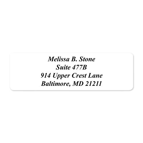 White Rolled Address Labels with Elegant Dispenser - Roll of 500 Photo #3