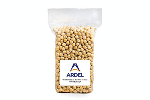 Ardel Turkish Hazelnuts Double Roasted, Non-GMO, Unsalted, Blanched, No Shell, Natural, Premium Quality, Crunchy Taste Healthy Snacks for Vegetarian&Vegan 500 gr