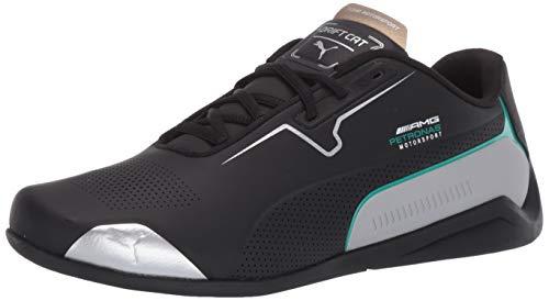 PUMA Mercedes Drift CAT 8 Sneaker, Black Silver, 8 M US