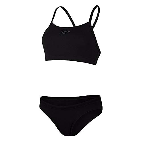 Speedo Essential Endurance+ Thinstrap 2 Piece Bikini, Mujer, Black, 28 (UK 6)