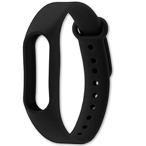 OcioDual Correa de Recambio Negra para Xiaomi Mi Smart Band 2 Smartwatch Bracalete Ajustable Reloj Pulsera Silicona Flexible