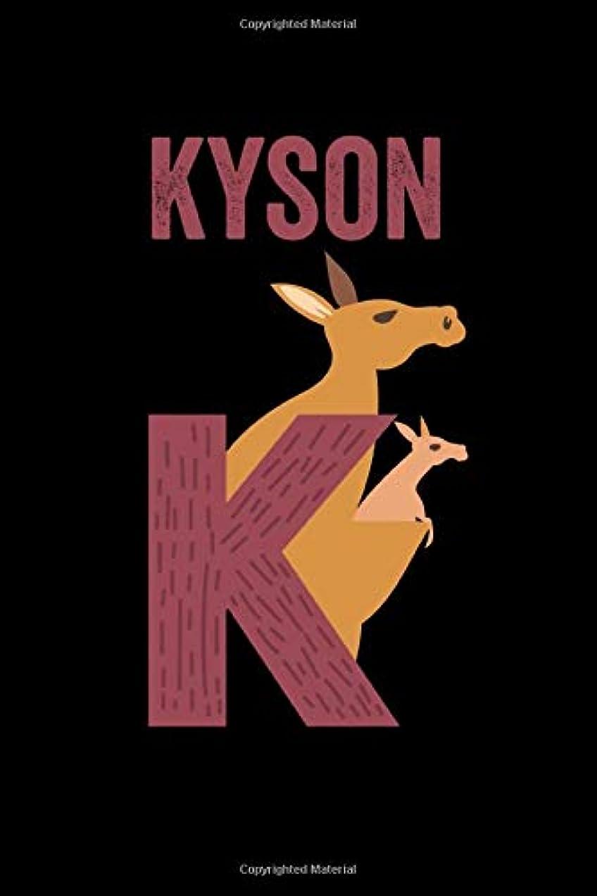 ピアース任意シートKyson: Journal (Diary, Notebook) Personalized Custom Name Alphabet Kangaroo Birthday Gift for Boys