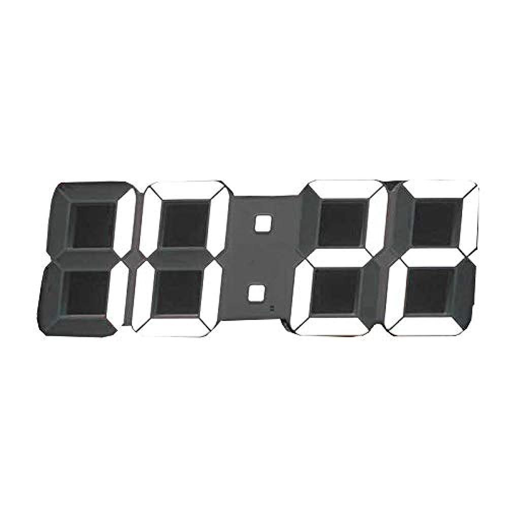 薬局華氏手配するLEDデジタル 壁掛け時計 リモコン付 温度表示(本体ホワイト×LEDホワイト)