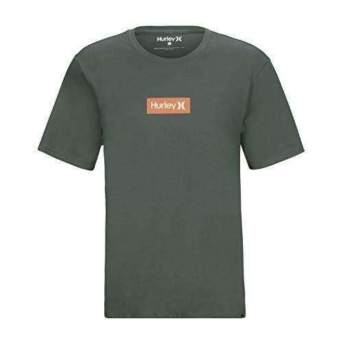 Hurley Herren M O&O Small Box S/S Tee T-Shirts, Vintage Green/(Light Bone), L